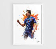 Robin van Persie Netherlands national football team by NazarArt, $25.00