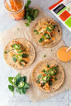 Spicy Teriyaki Chick'n Tacos Vegan