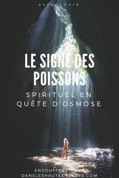 Le Signe des Poissons est complexe, fusionnel, porté vers une recherche d'Osmose. Attiré par le bien (les actions justes), ensorcelé par l'invisible, les illusions et l'onirisme, il oscille entre deux mondes. Il est retenu souvent malgré lui dans une réalité qui le suffoque, lui qui ne rêve que d'infini. Taurus, Pisces, Quote Citation, Spirit Guides, Got Him, Mood Quotes, Signs, Positive Affirmations, Wicca