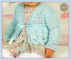 crochet pattern for a baby cardigan
