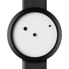 Ora Lattea, The minimal white face features just three black dots: one marking the position of the hour hand; another the second hand; and a third the centre of the watch. The first two dots orbit the third like planets in the solar system while the name the Italian phrase for Milky Way.