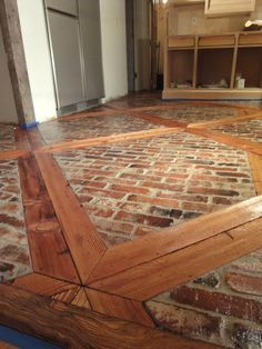 Image result for wood flooring with tile inlays