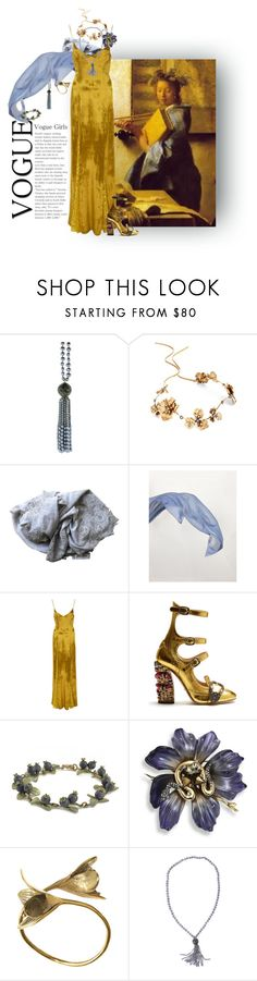 """""""vermeer gray"""" by jennifer ❤ liked on Polyvore featuring Silvia Furmanovich, Twigs & Honey, Faliero Sarti, Brunello Cucinelli, Galvan, Gucci, Alexis Bittar and Monserat De Lucca"""