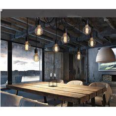 Pas cher Lixada 6 bras Antique classique bricolage araignée plafond lampe E27 rétro Chandelier Pendant Light pour salle à manger chambre hôtel, Acheter  Éclairage suspendu de qualité directement des fournisseurs de Chine:                                             6 bras antique