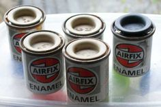 airfix paint pots. Always remember dad having loads of these from his model making days