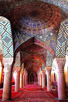Nasir al-Muk Mosque in Shiraz, Iran