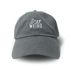 06a33afe WUE Stay Weird Garment Washed Unisex Cap Charcoal WUE Stay Weird, Baseball  Cap, Charcoal