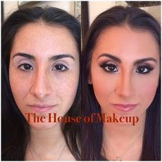 Before and after contouring