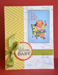 Crate Paper-baby card by Darla Weber