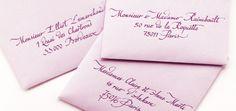 Enveloppes calligraphiées - Callyane
