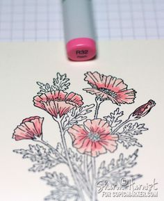 Coloring Poppies with Copic Markers