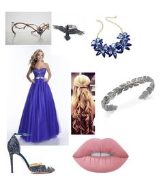 """Ravenclaw Yule ball outfit"" by kyra-kenney on Polyvore featuring Envious Couture, Charlotte Olympia, Kate Spade, Lime Crime and Vera Bradley"