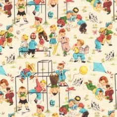 Michael Miller Fabric, Fun Times in Multi, Vintage