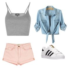 """""""Colors!"""" by summerloveforever335 on Polyvore featuring Topshop, Current/Elliott and adidas"""