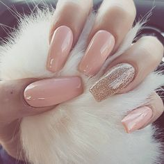 """672 Likes, 18 Comments - GLAM BY AMY (@glamgirlamy) on Instagram: """"My new gold and nude nails  @billion.nails"""""""