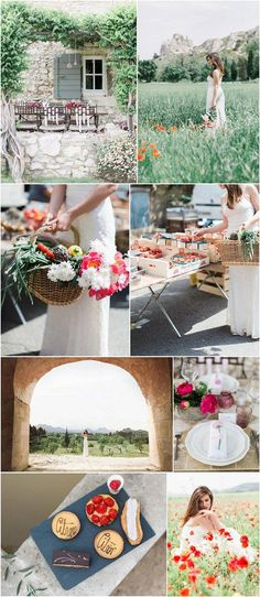 Today's charming Provence wedding inspiration is guaranteed to have you day dreaming about balmy summer days spent strolling through quaint Provençal villages and countryside