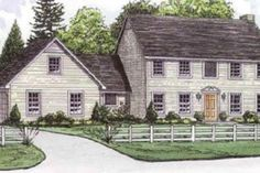 House Plan 16-209 4 bdrm 2.5 bath kidda broken up.  like general layout but more open.  are bedrooms too small.  potentially use living room as office and make all bdrms upstairs bigger???