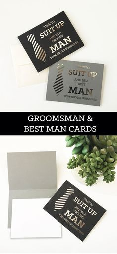 Suit Up Groomsman Cards Will You Be My Groomsman Funny by ModParty