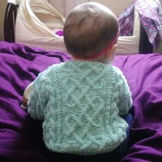 d75cc2dc2 Garbhan baby toddler aran cable sweater PDF knitting pattern