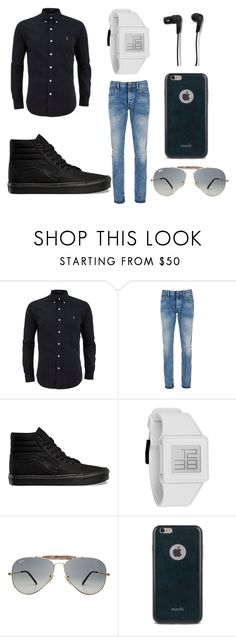 """~A Casual Outfit For Men/Boys~"" by bellacrowell on Polyvore featuring Denham, Vans, Nixon, Ray-Ban, Moshi, B&O Play, mens, men, men's wear and mens wear"