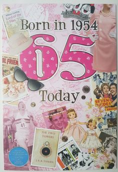 65th Birthday Card 1954 Year You Were Born Female Facts Inside 5033833137594