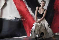 Andreea Diaconu is photographed by Peter Lindbergh for Donna Karan Spring/Summer 2015 Ad Campaign.