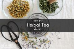 Chill Out Herbal Tea Recipe. This herbal tea recipe is a blend of calming herbs designed to help us chill out after a hectic day. This calming tea recipe is perfect served hot or cold. Cold Home Remedies, Natural Remedies, Teas For Headaches, Calming Tea, Tea For Colds, Organic Living, Natural Living, Peppermint Tea, Best Tea