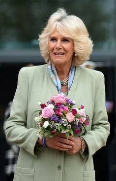 The Duchess Of Cornwall during a Dedication Ceremony to commemorate the relocation of the Defence Medical Services Training Group to DMS Whittington at Whittington Barracks, Lichfield. 8 May 2014