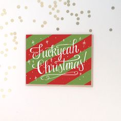 Fuckyeah Christmas Card - Funny Holiday Card by LionheartPrints on Etsy