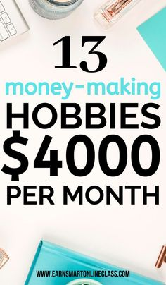 15 Hobbies That Make Money In 2019 Searching for hobbies to earn you real money this year? No problem! Here's a list of the best money-making hobbies to help you earn extra cash on. The post 15 Hobbies That Make Money In 2019 appeared first on Welcome! Hobbies That Make Money, Make Easy Money, Rc Hobbies, Unusual Hobbies, Cheap Hobbies, Online Jobs From Home, Work From Home Jobs, Earn Extra Cash, Extra Money