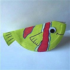 Unit 2 Lesson 2: Paper Plate Fish using paper plates, googly eyes. Cut out ahead of time and draw fins and mouth