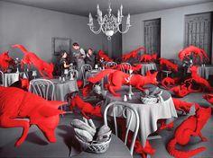 Sandy Skoglund. #fox dinner