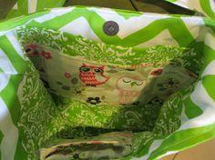 Handmade Fabric Bags Purses Shoulder bag Owl by PickingPoppys