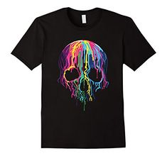 Check this Colorful Melting Skull Art Graphic Halloween TShirt-Newstyleth . Hight quality products with perfect design is available in a spectrum of colors and sizes, and many different types of shirts! Skull Art, Martin Luther King Day, Types Of Shirts, Funny Shirts, Colorful, Halloween, Black Clothes, Mens Tops, T Shirt