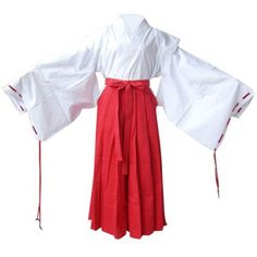 E-Mell Inuyasha Cosplay Costume Kikyou&Kikyo Miko Outfits ($52) ❤ liked on Polyvore featuring costumes, adult costume, cosplay costumes, halloween costumes, adult role play costumes and cosplay halloween costumes
