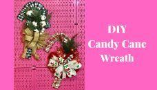 How to Make a Candy Cane Wreath Christmas Tree Bows, Dollar Tree Christmas, Dollar Tree Crafts, Christmas Tree Toppers, Christmas Diy, Tree Top Bow, Diy Wreath, Wreaths, Candy Cane Wreath