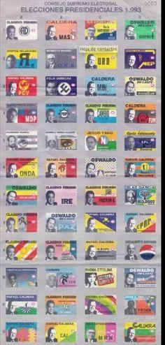 Cuando era Chamo – Recuerdos de VenezuelaTarjetón Electoral 1993 Venezuela   Cuando era Chamo - Recuerdos de Venezuela