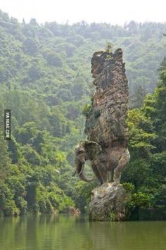 Elephant rock in India