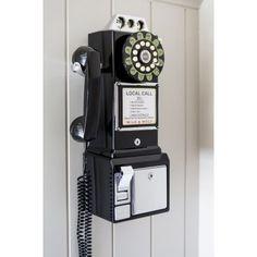 Old style telephone, Retro Rotary phone Old style American coin phones in black and silver only at Smithers of Stamford retro store Call today 01780 435060 Retro Gifts, Vintage Gifts, Decor Vintage, Funky Design, Vintage Design, Fifties Diner, Telephone Vintage, Wedding Gifts For Men, American Diner