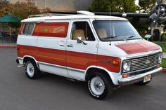Time machines are often written off as objects of fantasy, but this 1977 Chevrolet camper van will take you back in time. Propelled by standard gasoline, an 8 track player, and a fantastic paint job, this time machine. Chevy Conversion Van, Dragon Wagon, Chevrolet Van, Gmc Vans, Gmc Trucks, Mini Trucks, Old School Vans, Painted Vans, Vanz