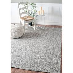 For Nuloom Handmade Casual Solid Braided Rug 3 X 5