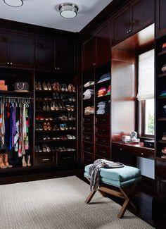 Luxe master closet | Andrew Howard Interior Design