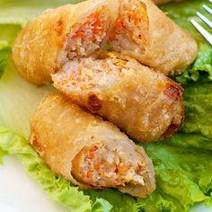 Vietnamese Fried Spring Rolls, Vietnamese Egg Rolls, Vietnamese Recipes, Asian Recipes, Vietnamese Food, Filipino Recipes, Thai Recipes, Veggie Recipes, Vegetarian Recipes