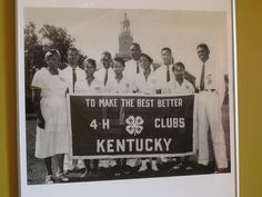 African-American members of the 4H Club of Kentucky, circa 1950s.