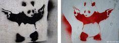 banksy Buenos Aries panda Street Art Banksy, Banksy Art, Graffiti, Aries, Panda, Stencils, Aries Zodiac, Templates, Stenciling