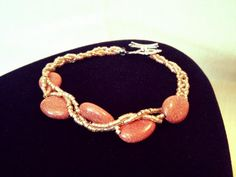 Glittered sand stone bracelet