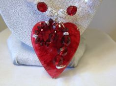 Sterling Silver Wire Wrapped Heart Pendant by DeanasQuiltsandMore, $35.00