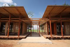 Thom Mun Community Center, Project Little Dream, Cambodia, Architizer A+ Popular Choice Award, New Futures Organisation, bamboo community center, volunteer construction in Cambodia, gabion wall filled with temple ruins, Cambodian community center
