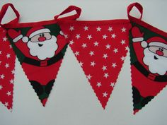2 meters hand crafted bunting santa and stars christmas bunting sitting room
