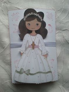 My Sweet Glamour First Holy Communion, Doll Patterns, Maya, Decoupage, Origami, Diy And Crafts, Disney Characters, Fictional Characters, Dolls